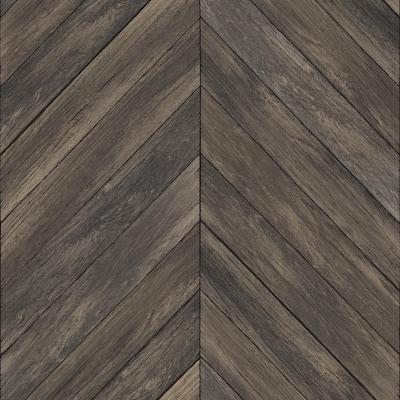Wildwood Walnut Brown Wallpaper Sample