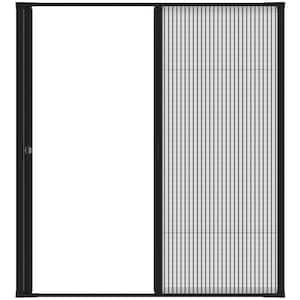 72 in. x 81 in. Brisa Black Standard Double Retractable Screen Door Kit