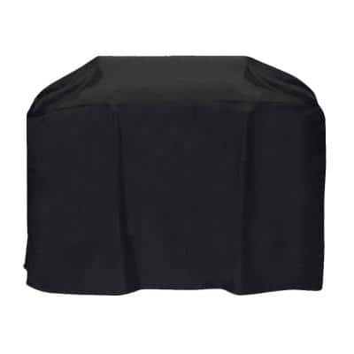 72 in. Cart Style Grill Cover in Black