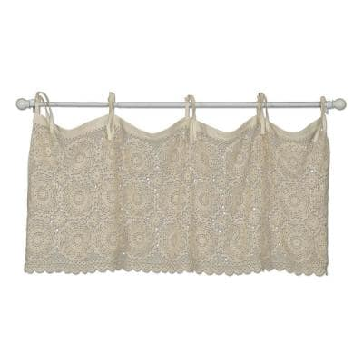 Crochet Envy 16 in. L Cotton Valance in Natural
