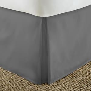 14 in. Gray Solid Queen Bed Skirt