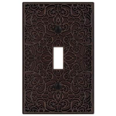 Momfort 1 Gang Toggle Metal Wall Plate - Aged Bronze
