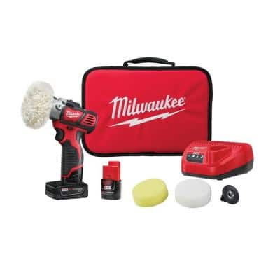 M12 12-Volt Lithium-Ion Cordless Variable Speed Polisher/Sander Kit W/(2) M12 Batteries, Accessories, Charger & Tool Bag