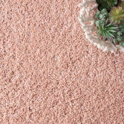 Neva Plush Shag Pink 8 ft. x 11 ft. Area Rug