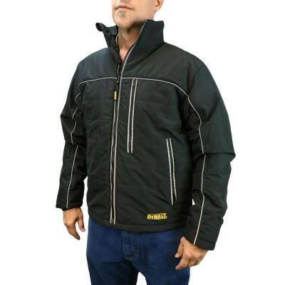 Men's XXXLarge 20-Volt MAX XR Lithium-Ion Black Quilted Soft Shell Jacket Kit with 2.0 Ah Battery and Adapter