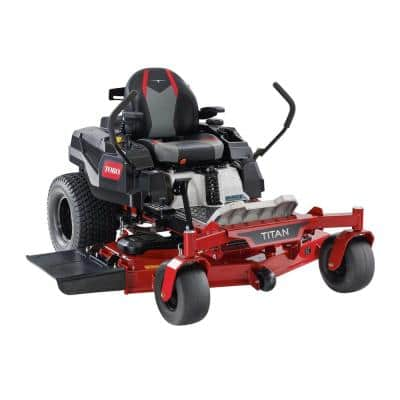 TITAN 54 in. IronForged Deck 26 HP Commercial V-Twin Gas Dual Hydrostatic Zero Turn Riding Mower with MyRIDE