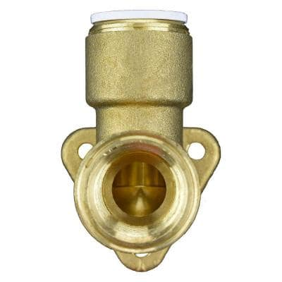 1/2 in. Brass 90-Degree Push-to-Connect Wing Back Elbow Fitting
