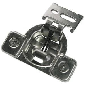 1/2 in. Chrome Face Frame Concealed Overlay Hinge (1-Pair)
