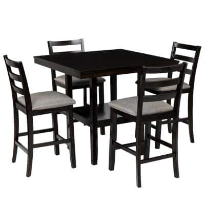 Square Dining Room Sets Kitchen Furniture The Home Depot - What Is A Tall Kitchen Table Called
