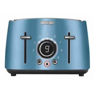4-Slice Blue Toaster with Rack