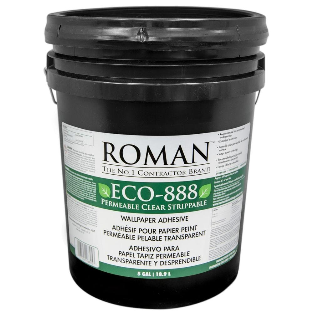 Roman ECO-888 5 gal. Strippable Clear Wallcovering Adhesive
