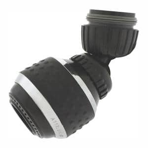 1.2 GPM Soft Grip Water-Saving Swivel Spray Aerator in Black