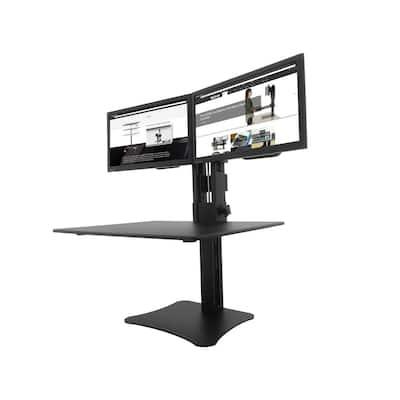 Manual Dual Monitor Standing Desk