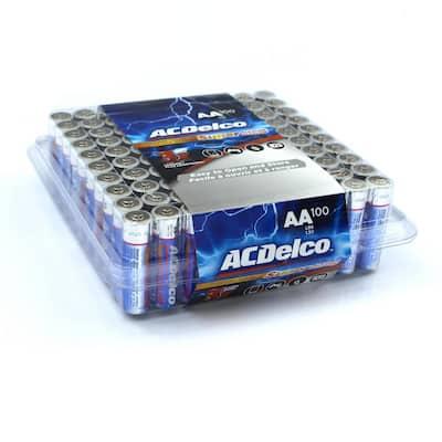100 of AA Super Alkaline Batteries with Recloseble Box