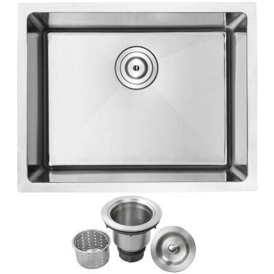 Arlo Undermount 18-Gauge Stainless Steel 23 in. Single Bowl Kitchen Sink with Basket Strainer