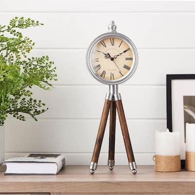 Cream Iconic Tripod Timepiece Decor