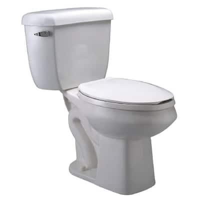 Eco Vantage 2-Piece 1.28 GPF Single Flush Elongated Pressure Assist Toilet in White