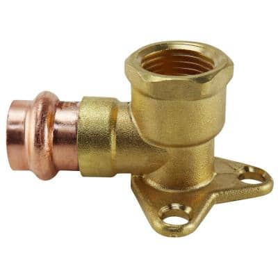 1/2 in. x 1/2 in. Copper 90-Degree Press x Brass FPT Drop Elbow