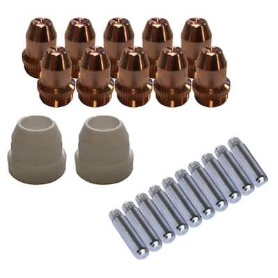 Plasma Cutter Consumables Sets for Brown Color LT5000D and Brown Color CT520D (22-Pieces)