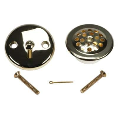 Trip Lever Bath Tub Drain and Overflow Trim Kit in Polished Brass
