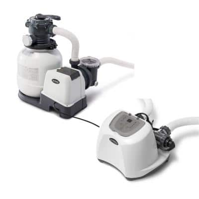 2100 GPH Pool Sand Filter Pump with Krystal Clear Saltwater System