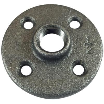 1/2 in. FPT Black Iron FPT Floor Flange