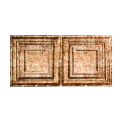 Traditional #3 2 ft. x 4 ft. Glue Up Vinyl Ceiling Tile in Bermuda Bronze (40 sq. ft.)