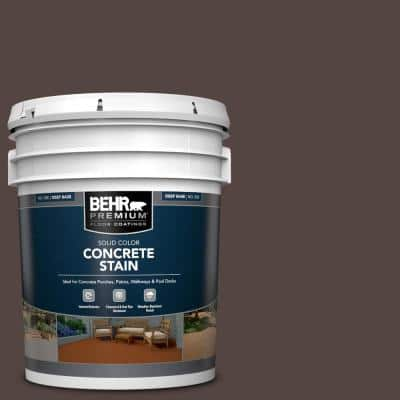 5 gal. #PFC-25 Dark Walnut Solid Color Flat Interior/Exterior Concrete Stain