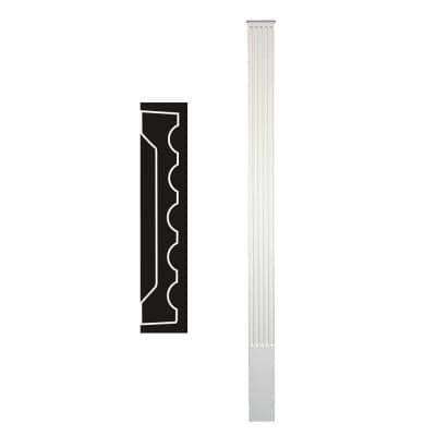 1-1/4 in. x 6 in. x 90 in. Primed Polyurethane Fluted Pilaster Moulding