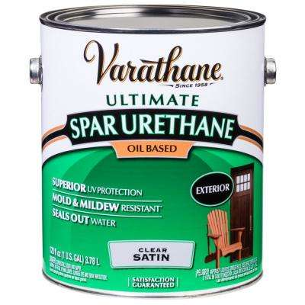 1 gal. Clear Satin 275 VOC Oil-Based Exterior Spar Urethane (2-Pack)