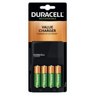 Coppertop Rechargeable AA NiMH Battery and Charger Battery Assortment Pack (4-Count, 3-Pack)