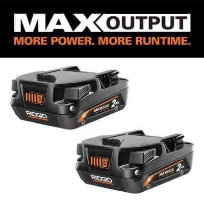 18V Lithium-Ion MAX Output 2.0 Ah Battery (2-Pack)