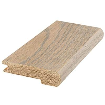 Dovetail Oak 0.81 in. Thick x 3 in. Wide x 84 in. Length Flush Stairnose Hardwood Molding