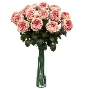 31 in. H Pink Fancy Rose Silk Flower Arrangement