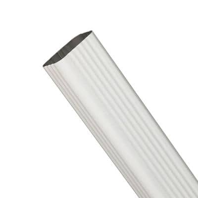 3 in. x 4 in. White Aluminum Downspout Extension