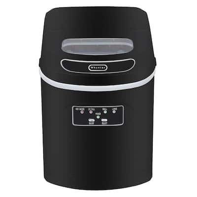 27 lb. Compact Portable Ice Maker in Metallic Black