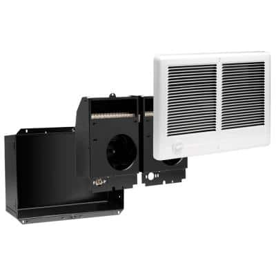 Com-Pak Twin 4,000-Watt 240-Volt Fan-Forced In-Wall Electric Heater in White