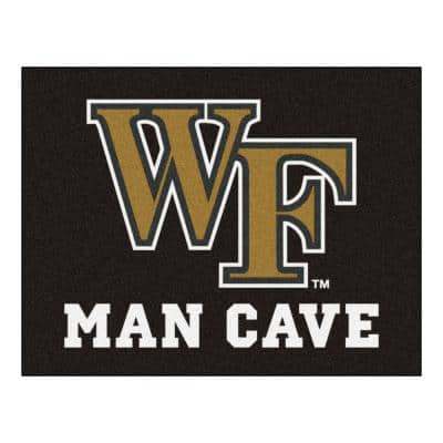 NCAA Wake Forest University Black Man Cave 3 ft. x 4 ft. Area Rug