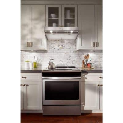 30 in. Under Cabinet Range Hood in Stainless Steel with Full-Width Grease Filters