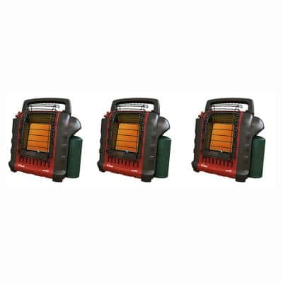 9,000 BTU Portable Buddy Outdoor Camping, Hunting Propane Gas Space Heater (3-Pack)