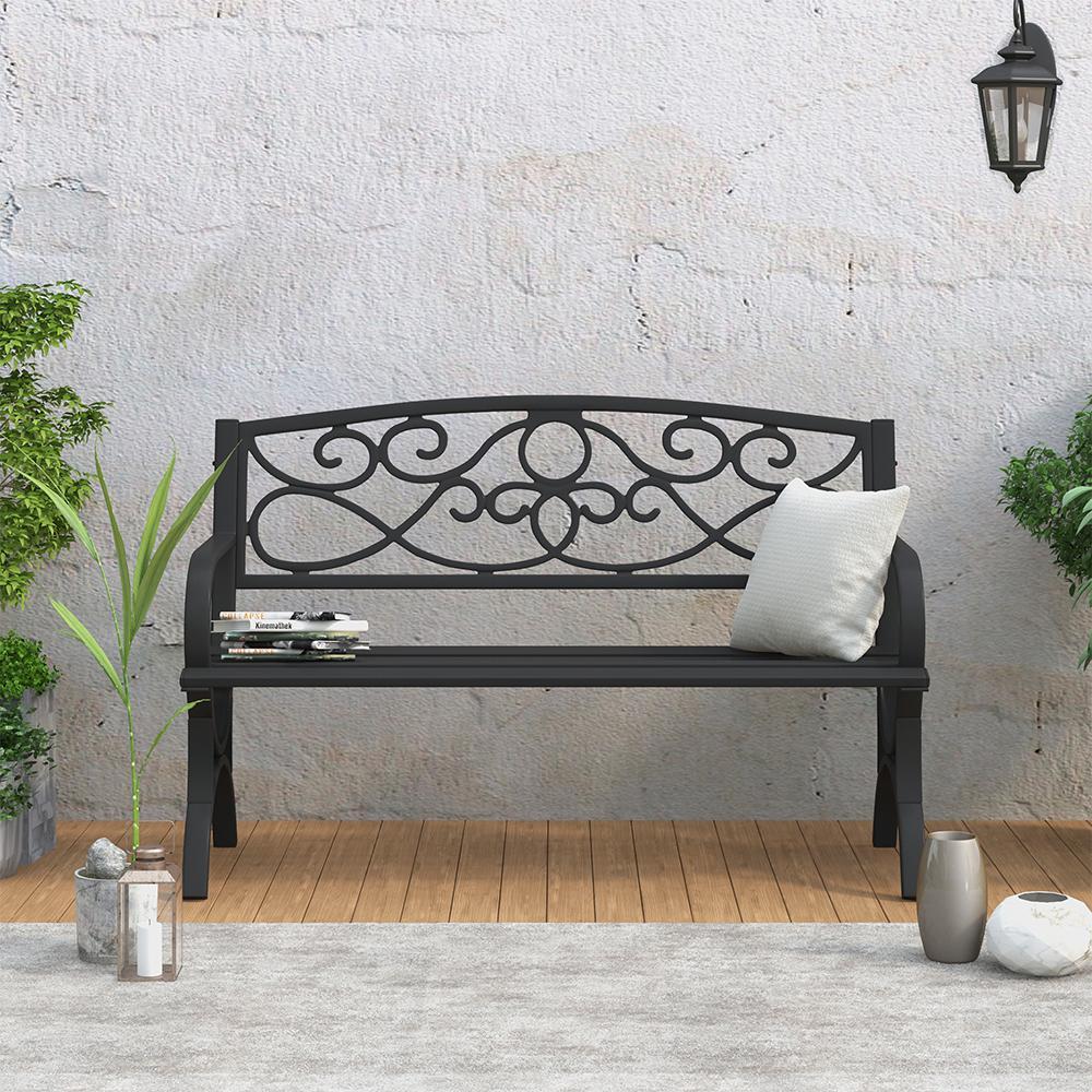 Steel Outdoor Patio Bench