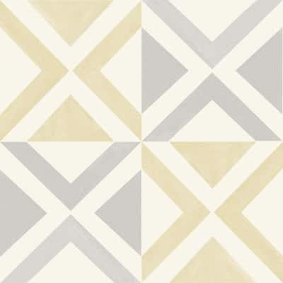 12 in. W x 12 in. L Isosceles White Peel and Stick Floor Vinyl Tiles (20 Tiles/20 sq. ft./case)