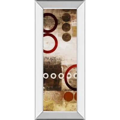 """""""Red Liberated Panel I"""" By Micheal Marcon Mirror Framed Print Wall Art 18 in. x 42 in."""