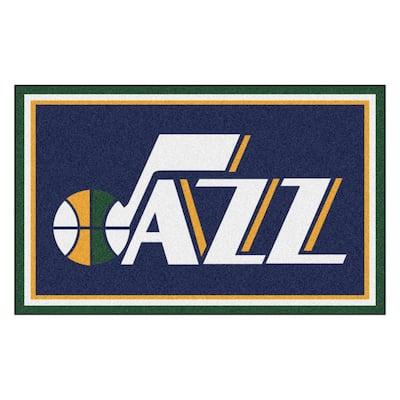 NBA - Utah Jazz Navy Blue 4 ft. x 6 ft. Area Rug