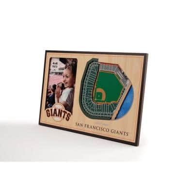 MLB San Francisco Giants Team Colored 3D StadiumView with 4 in. x 6 in. Picture Frame