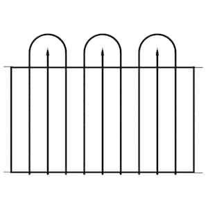 Westbrook 36 in. x 48 in. Black Steel Fence Panel (4-Pack)