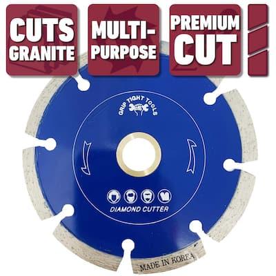 4-1/2 in. Premium Segmented Cut Diamond Blade for Cutting Granite, Marble, Concrete, Stone, Brick and Masonry (3-Pack)