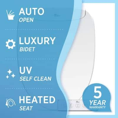 Discovery DLS Electric Bidet Seat for Elongated Toilet in White