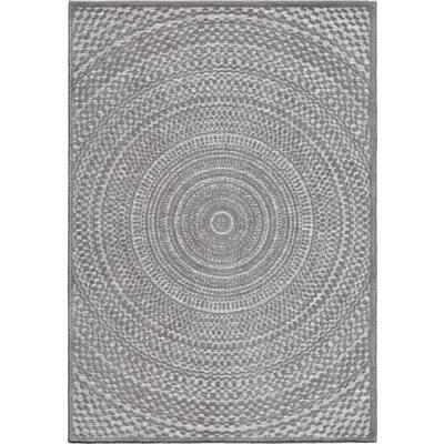 Cerulean Gray 7 ft. x 10 ft. Indoor/Outdoor Area Rug