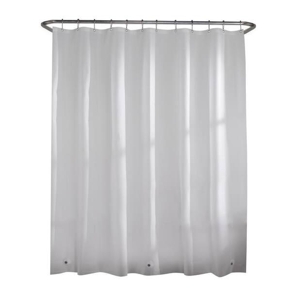 https www homedepot com p glacier bay peva oversized heavy 7 gauge 84 in w x 72 in h shower curtain liner in frosted clear 71124 205704685